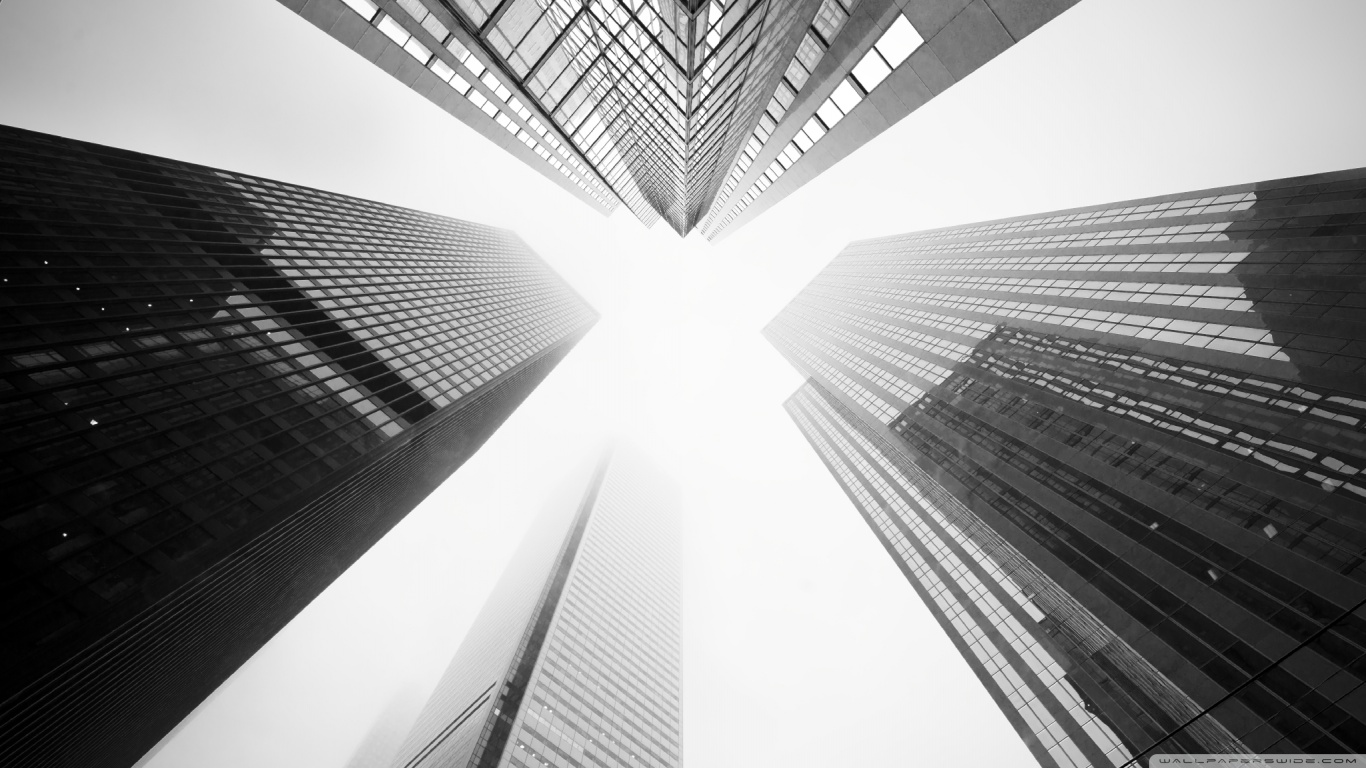 toronto_skyscrapers_black_and_white_2-wallpaper-1366×768