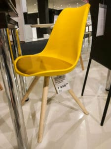 Желтый стул для кухни