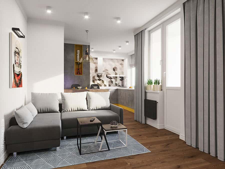 Дизайн гостиной комнаты в Одессе