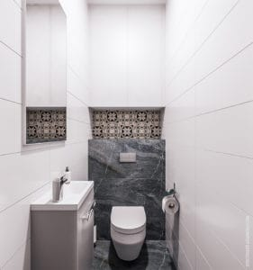 интерьер туалета в Одессе