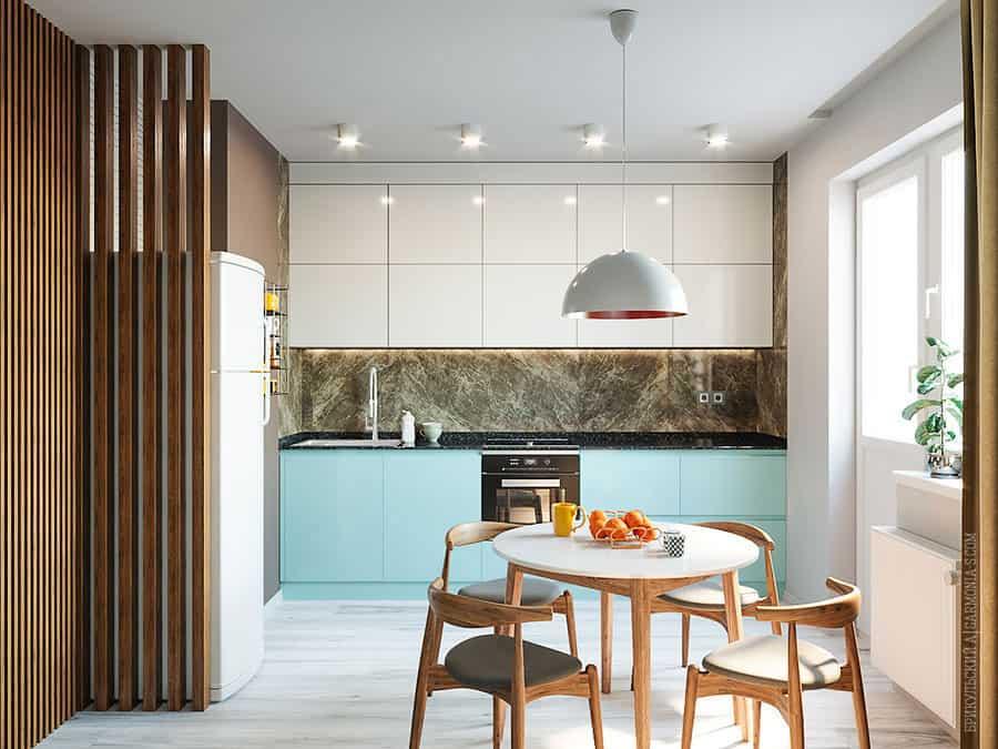Дизайн трехкомнатной квартиры в современном стиле ЖК Цветной Бульвар в Черноморске
