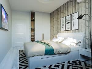 Интерьер спальни разработанной дизайнером