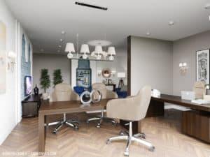 Дизайн гостиной в частном доме в Одессе