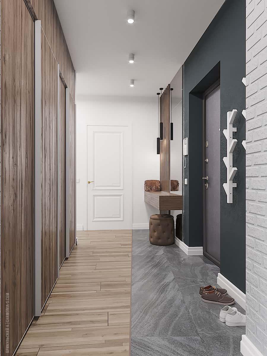 Интерьер прихожей в двухкомнатной квартире в Одессе