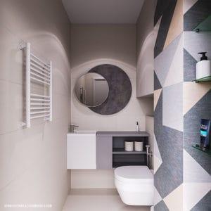 Дизайн санузла в небольшой квартире в Одессе