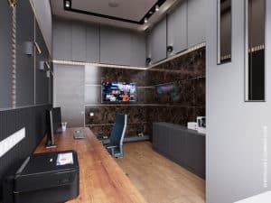 Дизайн домашнего кабинета в современном стиле 2019