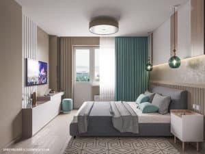 Дизайн интерьера современной спальни в Одессе