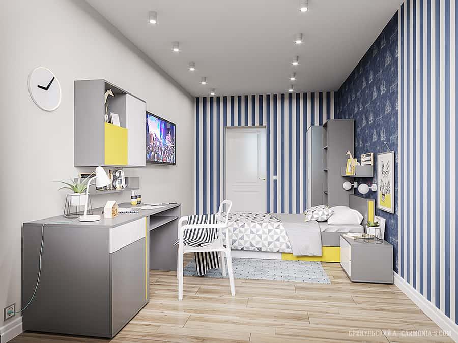 Дизайн комнаты для мальчика Цветной Бульвар