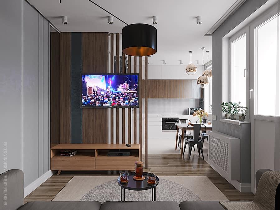 Интерьер кухни-студии: дизайн и ремонт