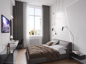 Современный дизайн хозяйской спальни