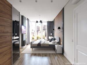 Хозяйская спальня в современном стиле в Черноморске