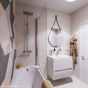 Дизайн интерьера маленькой ванны в Одессе