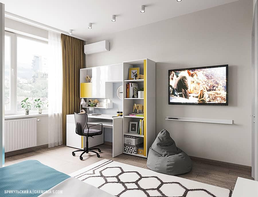 Интерьер мальчиковой спальни в современном стиле