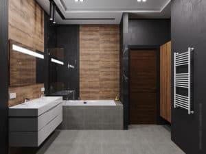 Дизайн ванной комнаты в темных тонах