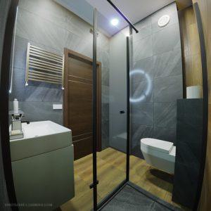 Дизайн ванной комнаты в черно-белых тонах Одесса