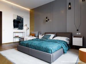 Дизайн спальни в современном стиле. Дизайн-проект 2020 года