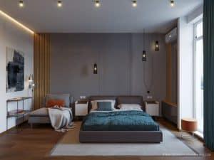 Дизайн современной спальни в Одессе. Проект 2019