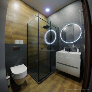 Дизайн интерьера ванной комнаты 4 квадратных метра в современном стиле в Одессе