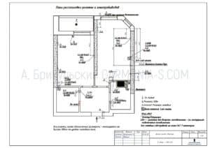 План расстановки розеток и электро-выводов