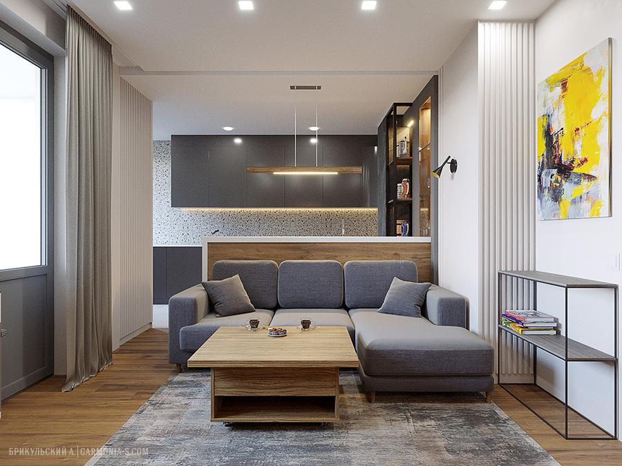 Дизайн-проект двухкомнатной квартиры в пригороде Одессы (г.Черноморск)
