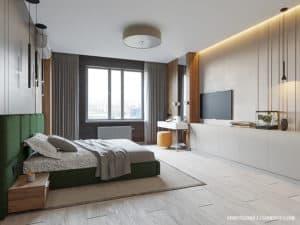 Дизайн-проект спальни в современном стиле в Одессе
