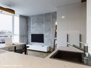 Дизайн гостиной смарт-квартиры в Одессе