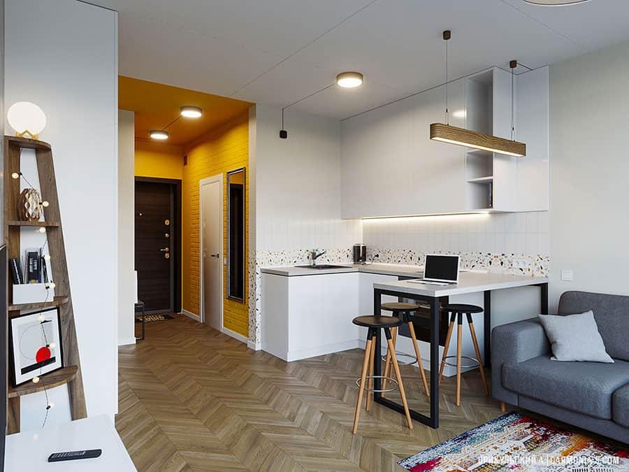 Dizajn interera smart-kvartiry v Odesse