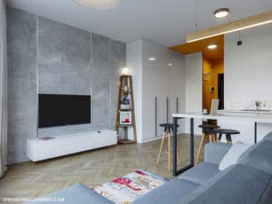 Дизайн светлой смарт-квартиры в Одессе