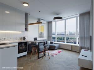 Дизайн кухонной зоны смарт-квартиры в Одессе