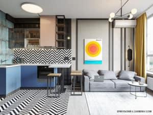 Дизайн интерьера смарт-квартиры в Киеве