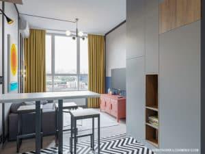 Интерьера смарт-квартиры после ремонта